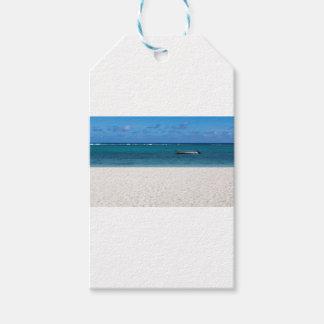 White sand beach of Flic en Flac Mauritius overloo Gift Tags