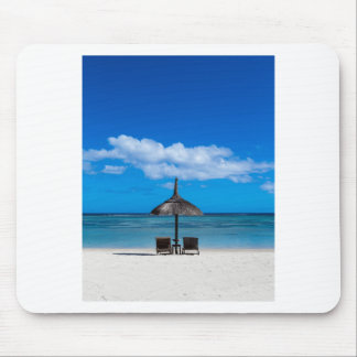 White sand beach of Flic en Flac Mauritius overloo Mouse Pad
