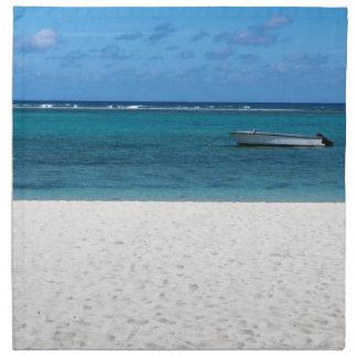 White sand beach of Flic en Flac Mauritius overloo Napkin