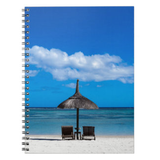 White sand beach of Flic en Flac Mauritius overloo Notebook