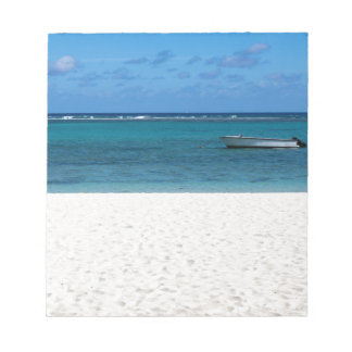 White sand beach of Flic en Flac Mauritius overloo Notepad