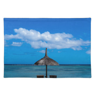 White sand beach of Flic en Flac Mauritius overloo Placemat
