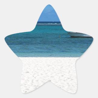 White sand beach of Flic en Flac Mauritius overloo Star Sticker
