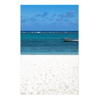 White sand beach of Flic en Flac Mauritius overloo Stationery