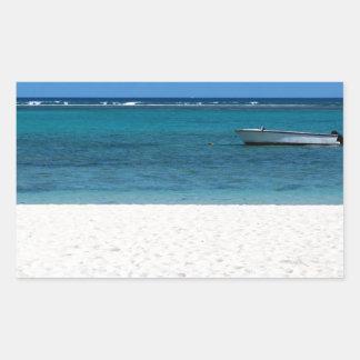 White sand beach of Flic en Flac Mauritius overloo Sticker