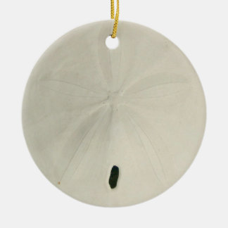 White Sand Dollar Christmas Tree Ornament