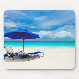 White Sand Green Ocean Mouse Pad