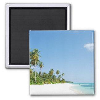 White Sands Paradise Beach Travel Magnet