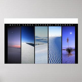 White Sands Windows Poster