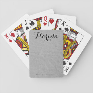 White Sandy Beach Poker Deck