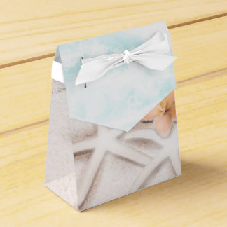 White Sandy Beach Starfish Blue Ocean Tropical Favor Box