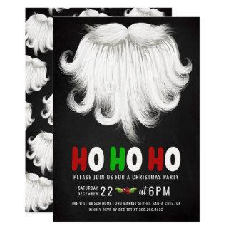 White Santa's Beard Christmas Party Invitation