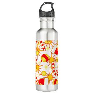 White - Santa's cap 710 Ml Water Bottle