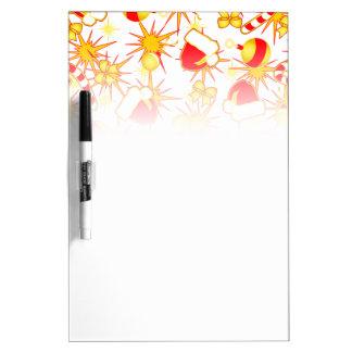 White - Santa's cap Dry Erase Board