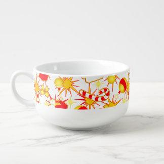 White - Santa's cap Soup Bowl With Handle