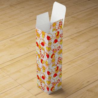 White - Santa's cap Wine Gift Box