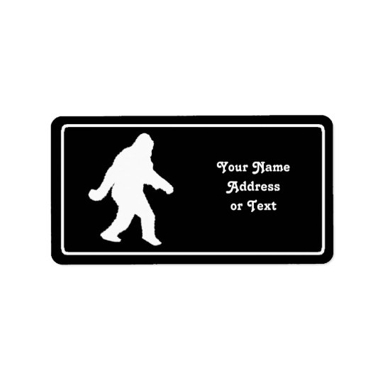 White Sasquatch Silhouette For Dark Backgrounds