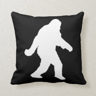 White Sasquatch Silhouette For Dark Backgrounds Pillow