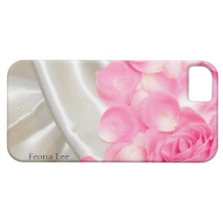White Satin Sheets and Pink Roses iPhone 5 Case