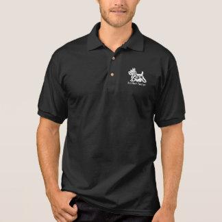 White Scottie Personalize Polo Shirt