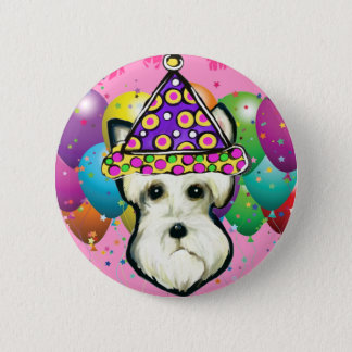 White Scottish Terrier 2 Inch Round Button