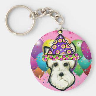 White Scottish Terrier Basic Round Button Keychain