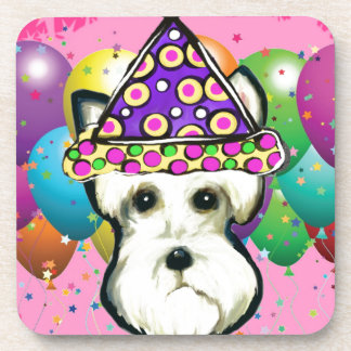 White Scottish Terrier Coaster