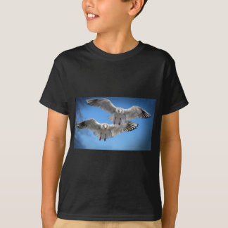 White Seagulls In Flight T-Shirt