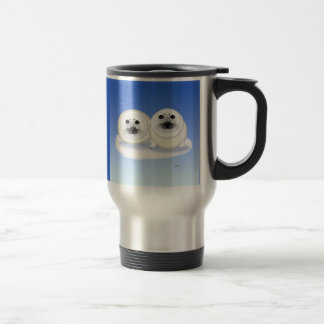 White Seal Pups Go Mug