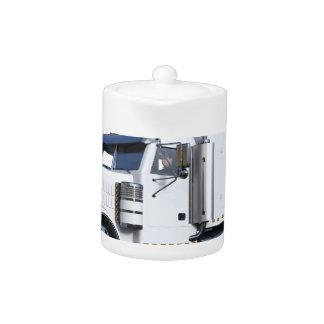 White Semi Tractor Trailer