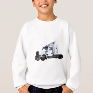 White Semi Tractor Trailer Sweatshirt
