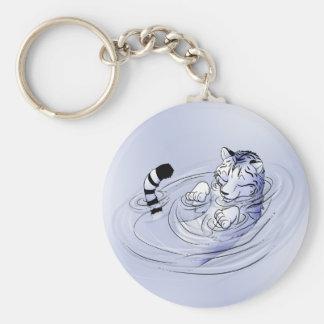 White Serenity Tiger Keychain
