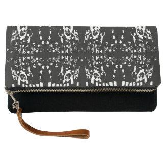White Shapes Clutch Bag