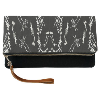 White Shapes Clutch Bag