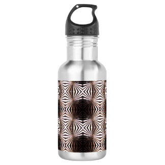 White Shapes Pattern Water Bottle