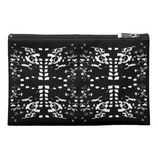 White Shapes Travel Accessory Bag