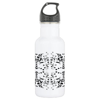 White Shapes Water Bottle