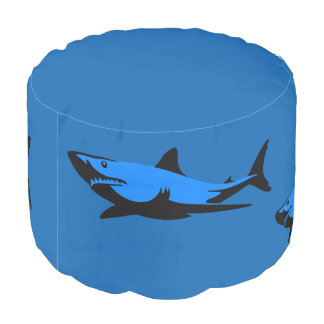 White shark pouf