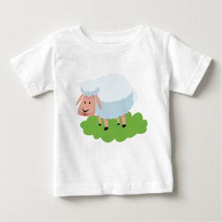 white sheep and shaun the sheep baby T-Shirt