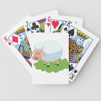 white sheep and shaun the sheep bicycle playing cards