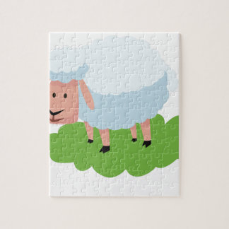 white sheep and shaun the sheep jigsaw puzzle