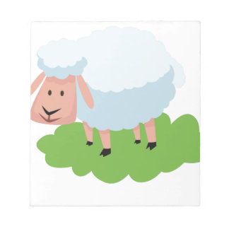 white sheep and shaun the sheep notepad