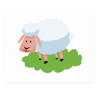 white sheep and shaun the sheep postcard