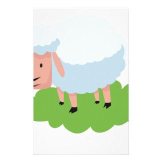 white sheep and shaun the sheep stationery