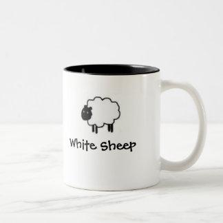 White Sheep Black Sheep mug