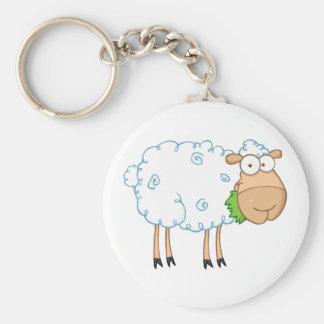 White Sheep Cartoon Character Keychain