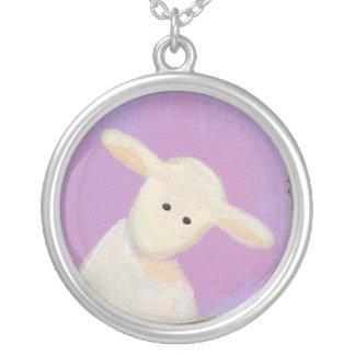 White Sheep, Gray Sheep, Black Sheep fun art Silver Plated Necklace