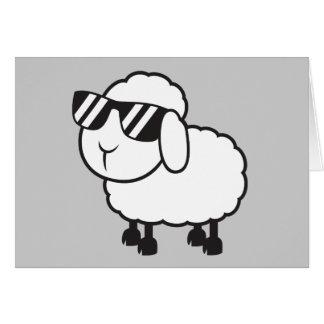 White Sheep in Sunglasses Cartoon Cards