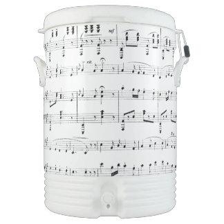 White Sheet Music Cooler