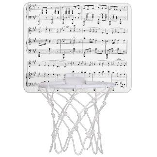 White Sheet Music Mini Basketball Hoop